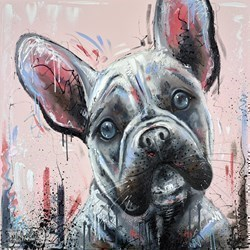 Frenchie by Samantha Ellis -  sized 30x30 inches. Available from Whitewall Galleries